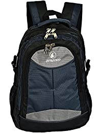 Concord 25 Liters Nylon Black And Dark Blue 15.6 Premium Quality Water Proof Laptop Backpack (Ch_Bag1832DarkBlue)