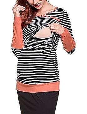 Vin beauty Banda Maternità maglietta Abbigliamento al seno Assistenza infermieristica Top per la gravidanza T-shirt...