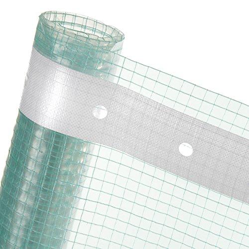 Gitterfolie – 4m² Folie – reißfeste Gewächshausfolie – Gitterverstärkt mit Nagelband (Meterware)