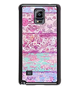 iFasho Modern Art Design painted flower on wood Back Case Cover for Samsung Galaxy Note 4