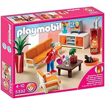 Playmobil 4282 jeu de construction salle de s jour for Playmobil cuisine 5329