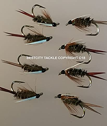 Fly Fishing PRINCE NYMPHS Premier Quality - size 10 eight