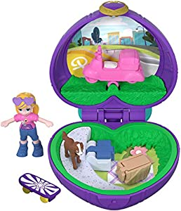 Polly Pocket Mini cofre vamos de picnic, muñeca con accesorios (Mattel FRY30)