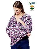 #7: Feather Hug 360° Nursing Cover for Breastfeeding mother, women, Mom, Multi Use, Feeding Cloak,Poncho, scarf, ups, Wrap, Breathable, Canopy, Babysitting, Maternity, Kurti, Shawl, Apron, Poplin (Pink Floral Print)