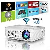 4400 lumen Wifi Smart Projecteurs vidéo Bluetooth sans fil avec HDMI USB...