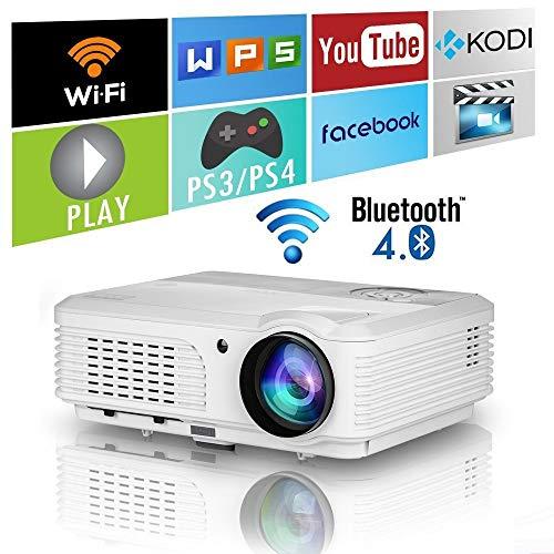 LED HD Wireless Wifi Projector w...