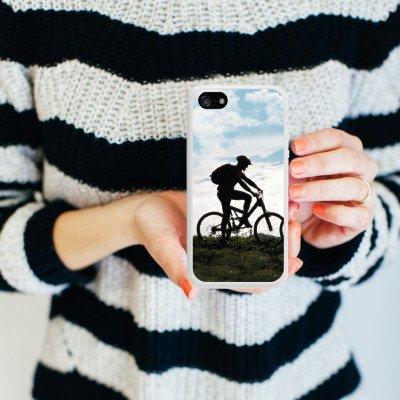 Apple iPhone 4 Housse Étui Silicone Coque Protection Bicyclette VTT Nature Housse en silicone blanc