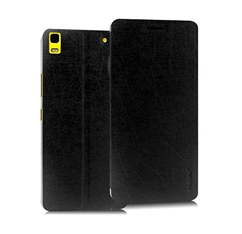 Pudini® Yusi Rain Series Leather Flip Cover Stand Case for Lenovo K3 Note / Lenovo A7000 - Black  available at amazon for Rs.198