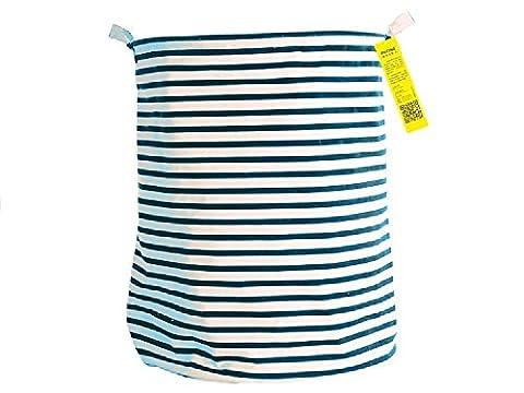 Wäschekorb, faltbar, Schmutzige Kleidung behindern W/Kordelzug Cover–Perfekt für College Schlafräume, Kinderzimmer, Kinder Zimmer, Bad oder Kleiderschrank Blau,