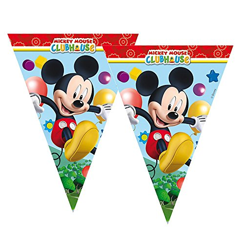 (Procos Wimpel-Kette Mickey Mouse | Girlande Banner 2,30 m | Micky Maus | Geburtstag)