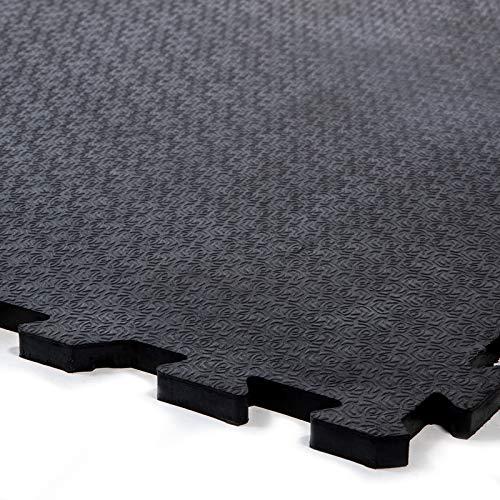 Stallmatte | komfortable und hygienische Gummimatte für Stall, Pferdebox, Paddock | Boxenmatte mit Drainage und Stecksystem | Stoßdämpfung getestet nach EN1177 |120x80 cm