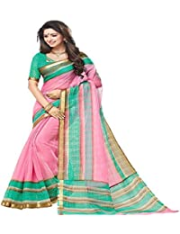 Sky Blue Printed bhagalpuri silk designer saree