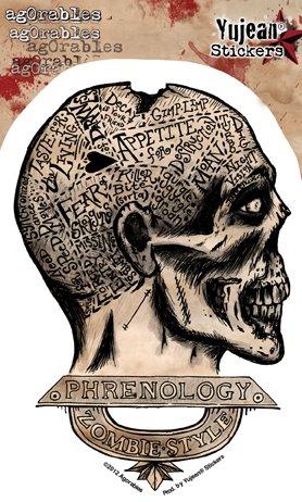 Autocollant De Toit - Agorables - Style! Old School Zombie Phrenology