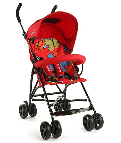LuvLap Tutti Frutti Baby Stroller Buggy (Red)