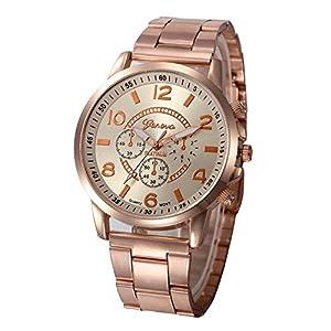 Chenang Edelstahl Quarzuhr,Klassik Armbanduhr Klassik Armbanduhr für Damen Classic Damen Analog Quarz Armbanduhr Ø41mm Sport Stil Damen Uhr
