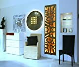 Badheizkörper Design Mosaik 3 + LED, HxB: 180 x 47 cm, 1118 Watt, Edelstahl / weiß mit LED, HxB:-Beleuchtung, Mittelanschluß (Marke: Szagato) Made in Germany / Top-verarbeiteter Bad und Wohnraum-Heizkörper (Mittelanschluss)
