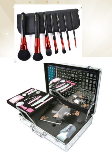Bundle 2 Items : Konad Nail Art Professional Salon Case with Demo Plate (M1-m36) +Itay Mineral Professional 7 Pc Set Makeup Brushes by Konad - Demo Bundle