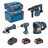 BOSCH Kit PSL4M2C (GBH 18V-26F + GSB 18 V-LI + GWS 18-125 V-LI + GAS 18V-10L + 2 x 4,0Ah + GAL1880CV + L-Boxx 136 + L-Boxx 238)