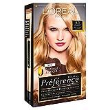 3 x L'Oreal Paris Recital Preference Permanent Colour 8.3 Cannes Soft Golden Blonde