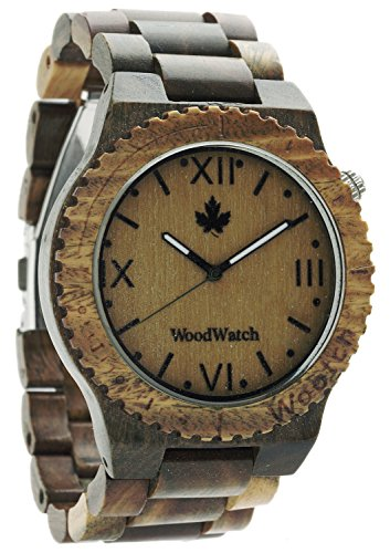 WoodWatch Orologio da uomo wootch-green