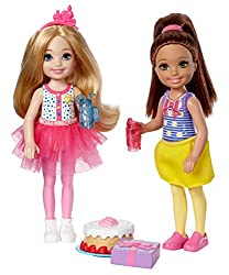 New 2017 2018 Barbie Club Chelsea 2 Pack Dolls, Birthday Party Set