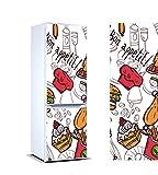 Vinilo para Frigorífico Bon appetit ! | Varias Medidas 185 x 60 cm | Adhesivo Resistente y de...