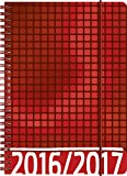 Brunnen 107297617 Schülerkalender/Schüler-Tagebuch (2 Seiten = 1 Woche, 14,8x21cm (A5), PP-Einband Grafik Rot, Kalendarium 2016/2017)