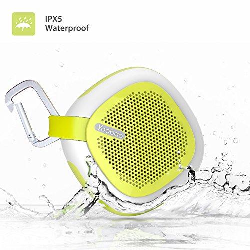 Yoobao Q3 Portable Bluetooth Lautsprecher IPX5 Wasserdichte Outdoor Sport Wireless Lautsprecher mit Einem Heavy Bass, HD Sound und HD Mic, FM Radio, TF Card Slot für Home, Camping und Radfahren usw