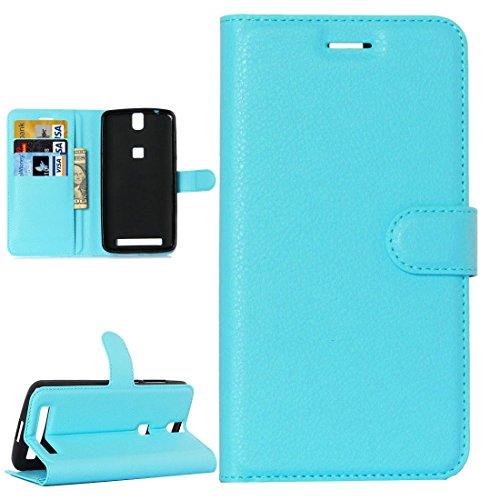 JBTec® Flip Case Handy-Hülle BOOK #M30 zu Elephone P8000 - Handy-Tasche Schutz-Hülle Cover Handyhülle Bookstyle Booklet, Farbe:Baby-Blau (Baby Book Flip)