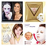Crystal White Hydrating Face Wrap V Line 3D Face lift Firming Anti Wrinkle Rejuvenating Facial Detox Mask Youthful Radiant Skin 1pc