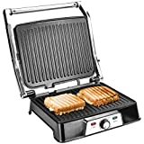 Ultratec 2 in 1 Kontaktgrill CG2000, 2000 Watt, Barbecue-Funktion