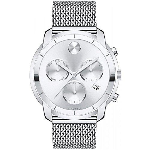 Movado Bold Reloj de hombre s/acero cronógrafo reloj 3600371