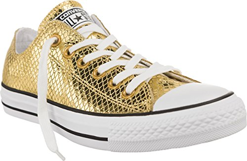 Converse Ctas Ox, A Collo Basso Donna, Oro (Gold/Black/White), 37 EU