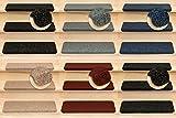 Kettelservice-Metzker Stufenmatten Ramon in verschiedenen Set Varianten | Rechteckig | 65x24x3,5cm | Anthrazit 14 Stück