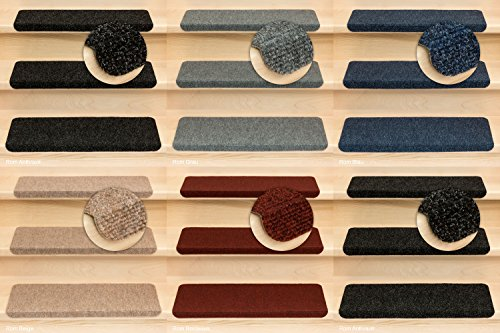 Kettelservice-Metzker Stufenmatten Ramon MW in verschiedenen Set Varianten | Rechteckig mit Winkel | Grau 16 Stück