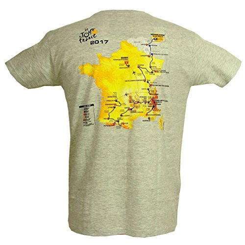 Le Tour de France - T-Shirt Collector Tour de France 'Parcours 2017' Officiel - Gris