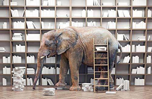 Xcmb 3D Wallpaper Große Benutzerdefinierte Tapeten Kreative Bücher Bücherregal Tv Wand Tv Hintergrund Wand Dekorative Gemälde-120Cmx100Cm