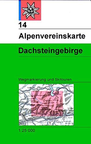 Dachstein: Topographische Karte 1:25000 mit Wegmarkierungen und Skirouten (Alpenvereinskarten)