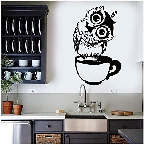 on Tasse Tee Kaffee Vinyl Wandtattoo Für Küche Aufkleber Wohnkultur Wohnzimmer Esszimmer Wandaufkleber 57 * 93 cm ()