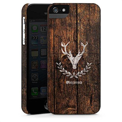 Apple iPhone 7 Tasche Hülle Flip Case Hirsch Schweiz Rustikal Premium Case StandUp