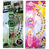 Vishwakarma Enterprises Ben 10 And Princes 24 Projector Watch For Kids -(Colour May Very)