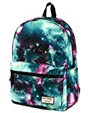 HotStyle TrendyMax Galaxy Pattern Vintage Style Unisex Fashion Casual School Travel Laptop Backpack Rucksack Daypack Tablet Bags (green) (green)