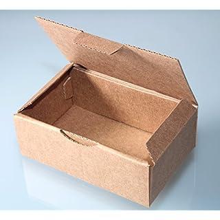 10er Pack Faltkarton RPT00A (braun-klein-stabil) ca.100mm x 60mm x 35mm.Beispielsweise als Versand-, Waren- oder Geschenkverpackung.