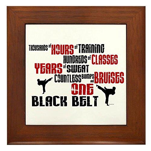 CafePress - One Black Belt 2 - gerahmte Fliesen, dekorative Fliesen zum Aufhängen an der Wand -