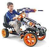 Hauck Nerf Blaster Nerf Battle Racer Go Kart Pedal Vehicle Mounting Bracket | EVA Tyres | Adjustable Posture | Hand Brake for Both Rear Wheels