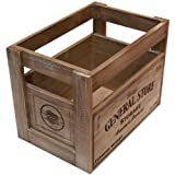 West5Products Small Rustic Farmers Market Design Vintage Wooden Crate (H 20cm)