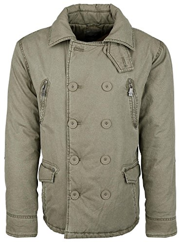 Black Premium by EMP Button Jacket Giacca verde oliva XXL