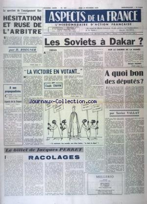 ASPECTS DE LA FRANCE [No 587] du 10/12/1959