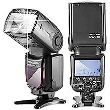 Neewer MK910–Flash dispositivo (I de TTL * Sincronización de alta velocidad * 1/8000s HSS pantalla LCD Speedlite Master/Slave flash para Nikon D3s D60D70D70S D80D80S D200, D200s, D300D300s D700D3000D3100D5000D5100D7000y Todas Las Otras Nikon DSLR Cámaras
