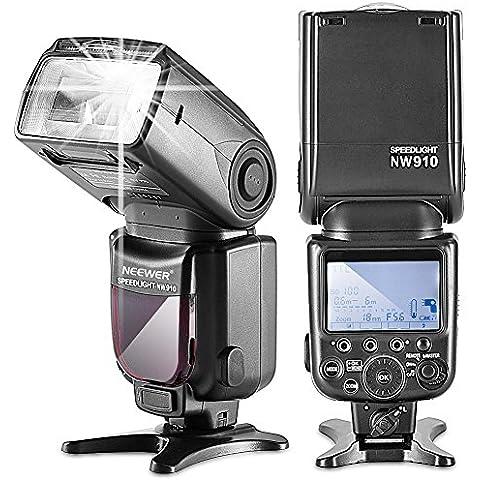 Neewer MK910–Flash dispositivo (I de TTL * Sincronización de alta velocidad * 1/8000s HSS pantalla LCD Speedlite Master/Slave flash para Nikon D3s D60D70D70S D80D80S D200, D200s, D300D300s D700D3000D3100D5000D5100D7000y Todas Las Otras Nikon DSLR